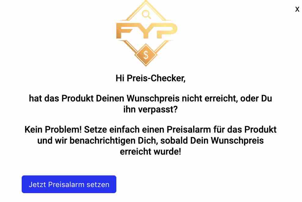 Amazon Preisalarm einstellen